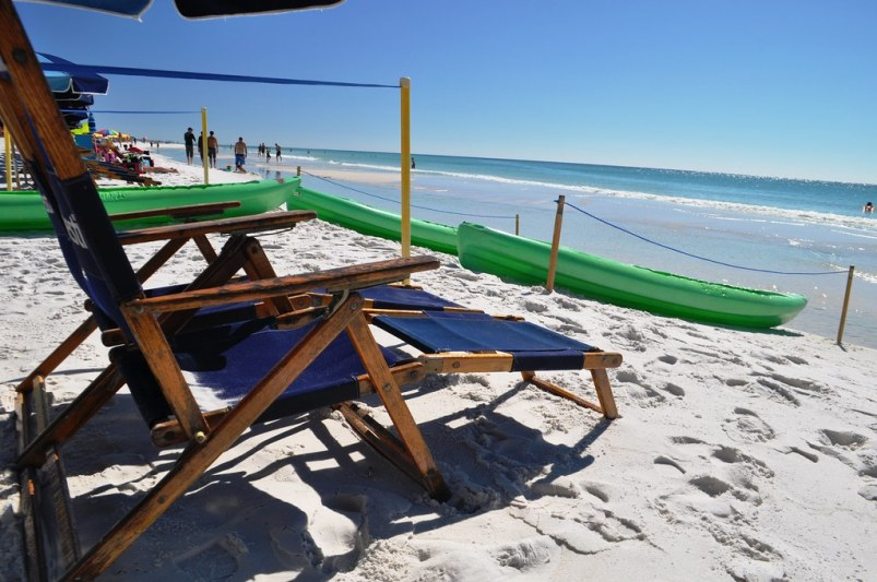 Kayaks and Chairs on the Beach - Sandestin Golf and Beach Resort, Oct. 25, 2014
