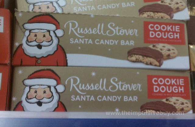 Russell Stover Cookie Dough Santa Candy Bar