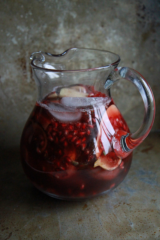 Autumn Sangria with Apples, Pomegranates and Figs