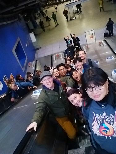 Reps Selfie while on the Tube escalator. Photo by Rara Queencyputri