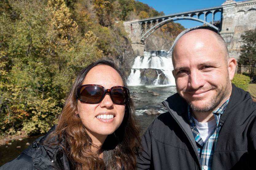 A selfie in front of Croton Dam.