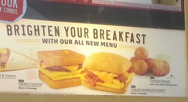 Sonic French Toaster, Ciabatta Breakfast Sandwich, and Croissant Donuts