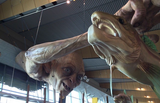 Gollum in Wellington Airport