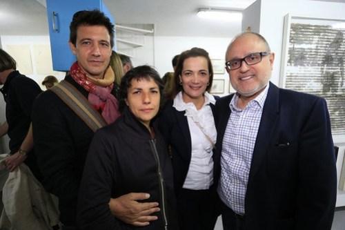 Juan Luque, Mónika Bravo, Mónica Lorduy y Rodrigo Idrovo