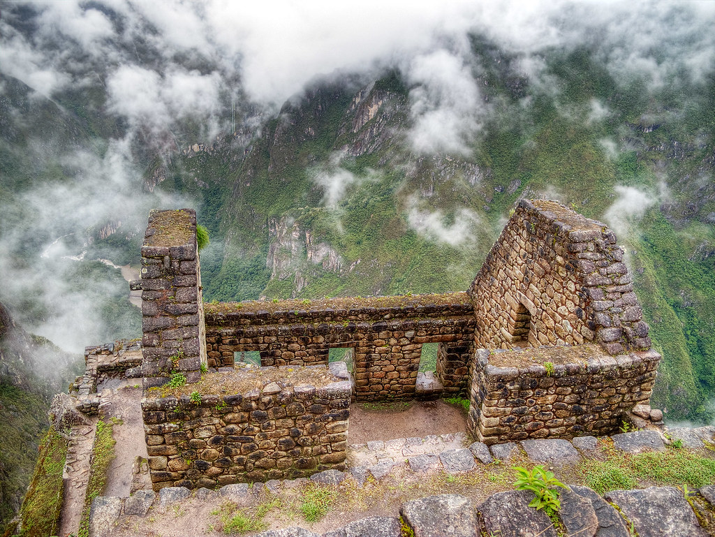 Remains of a house on Huayna Picchu.