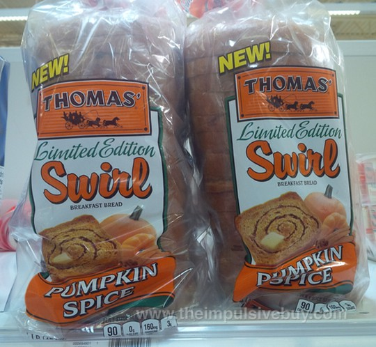 Thomas' Limited Edition Pumpkin Spice Swirl Bread