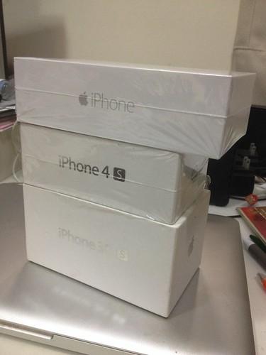 iPhone 盒子大小比較