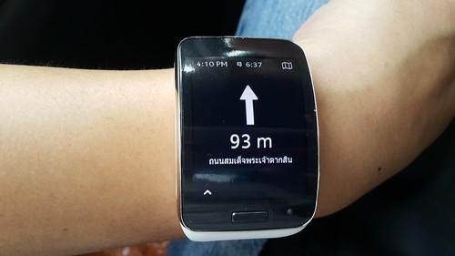 Gear S นำทางเป็นแบบนี้เลยครับ เหมาะกับการใช้เดิน