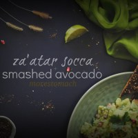 za'atar socca + middle eastern smashed avocado