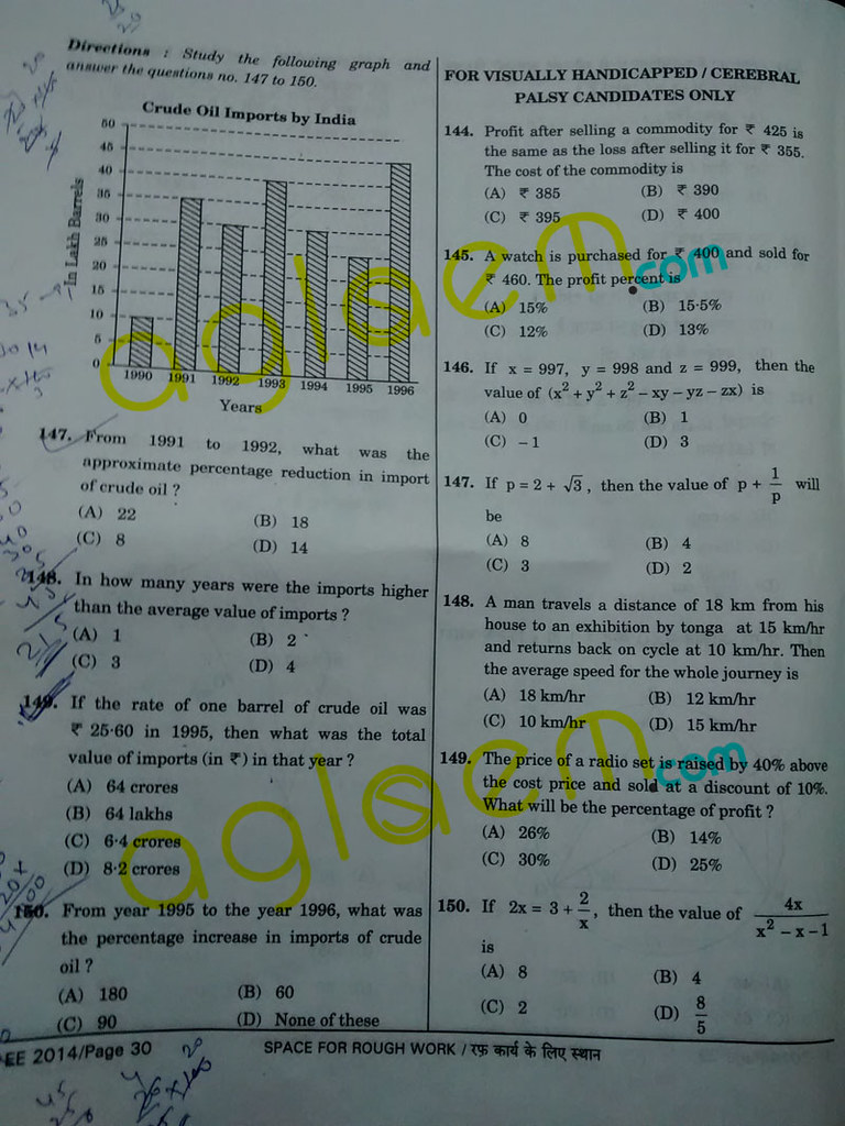 SSC CGL Question Papers Solved