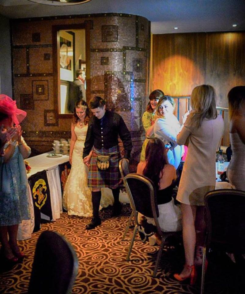 Scottish Harry Potter wedding on @offbeatbride