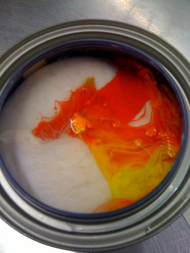 Paint before mixing