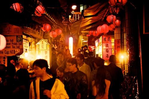 Jiufen, Taiwan night scene