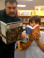Geeking out at Borders with Alex. How the generations have changed.