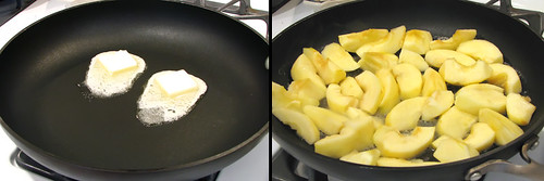 Butter Melting/Apples in Pan