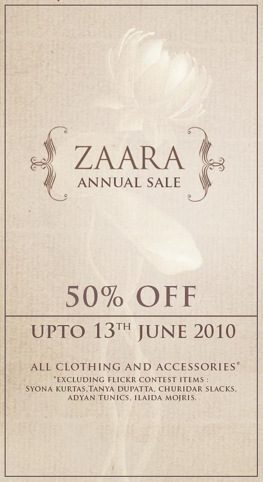 {Zaara} Annual Sale 2010