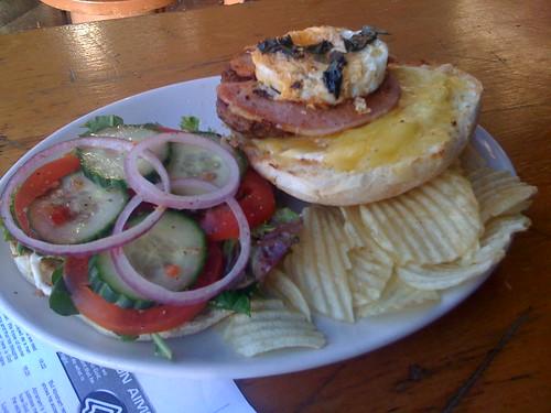 open hamburger - loading dock cafe