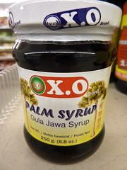 X.O. brand palm syrup