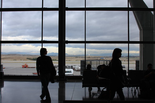 Travelers' silhouettes