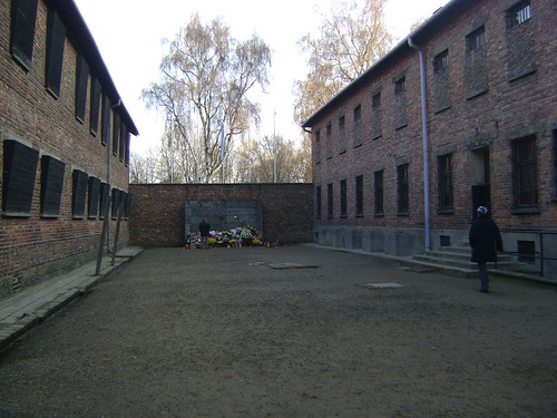 A memorial commemorates prisoner deaths at the Killing Wall