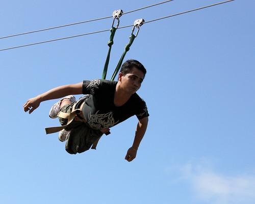 Zipline Fun in Lignon Hill (superman position)