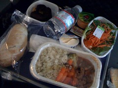 lunch on the plane back