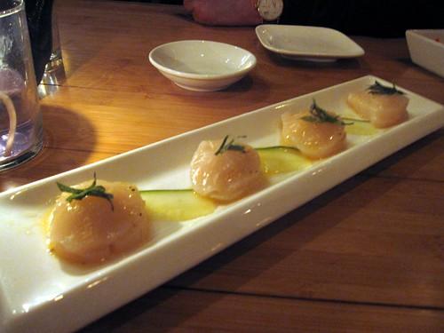 taka sushi cafe - uni ravioli by foodiebuddha.