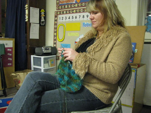 Pam and her Secret Dyed Mohair Top