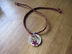 flower pendant necklace 2