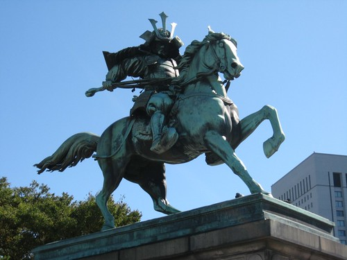 A samurai statue near the Imperial Palace.