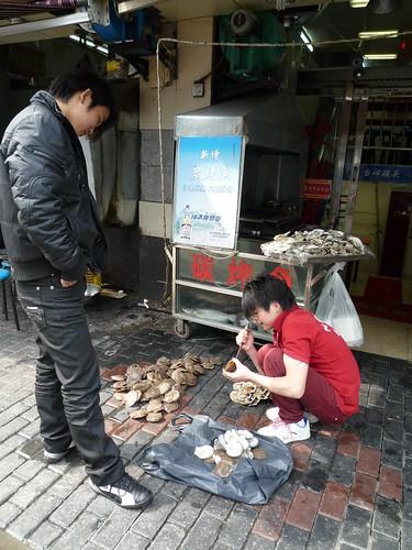 Frische Jakobsmuscheln, Shanghai