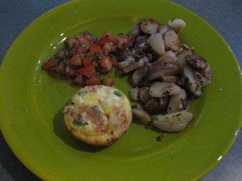 Frittata, Potatoes & Salsa