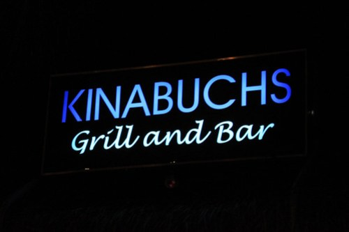 Kinabuchs Grill and Bar signage