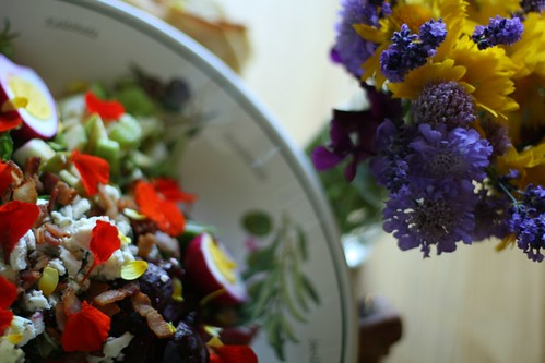 Sunday Flowers inspire Beautiful Salads