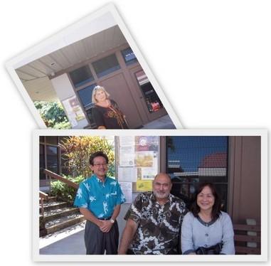 Guy Kimura, Rockne Freitas (Chancellor), Noreen Yamane, Beth Sanders (in back)
