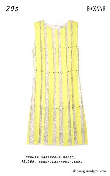 Behnaz Sarafpour dress, $1,165. behnazsarafpour.com.