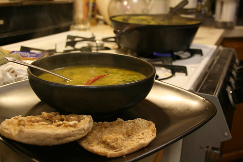 Butternut Squash, Mushroom, and Spinach Soup