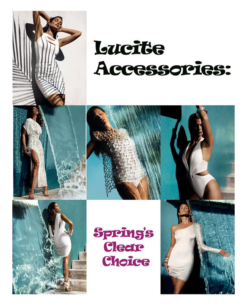 Cindy Crawford in Lucite Accessories 3