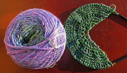 Waterlily Shawl Start
