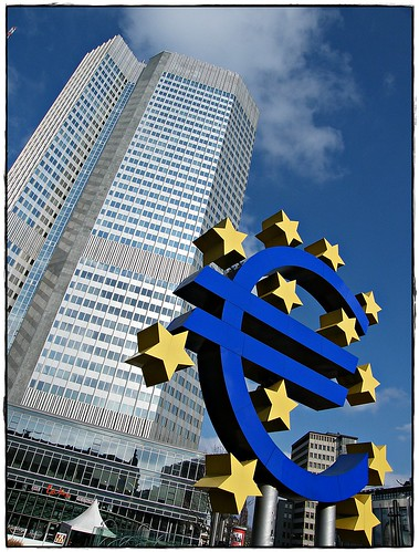 The European Central Bank (ECB) in the heart of Frankfurt, Germany