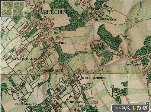 Baeleghem / Balegem in de atlas Ferraris