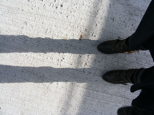 March: boots and shadow