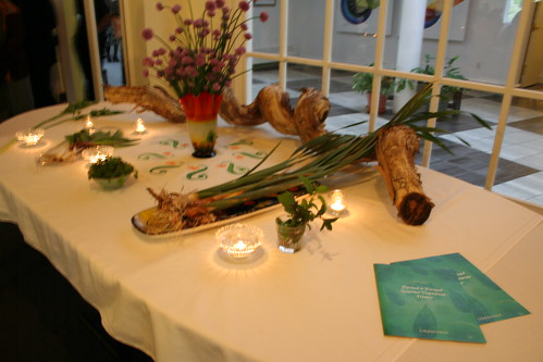 farmed and foraged ingredients show table