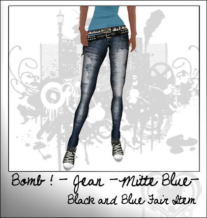 bomb jeans mitte blue