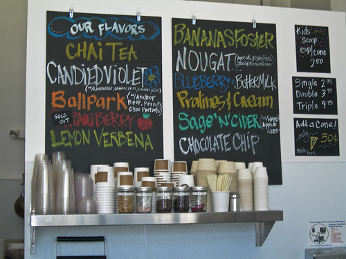 ice cream flavors at Mr. and Mrs. Miscellaneous