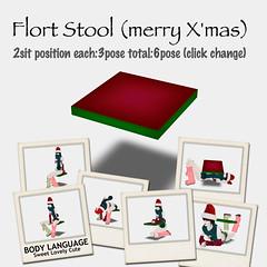 Flort Stool(merry X'mas)