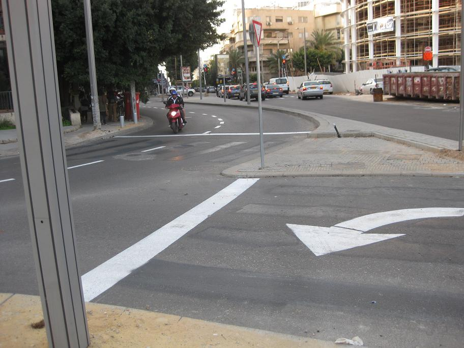 Removing Crosswalks in Tel-Aviv