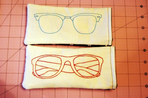 45/365 Embroidered Glasses Case