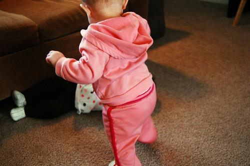 She can walk.