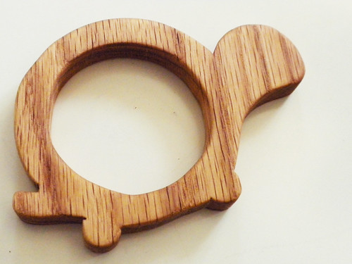 Wooden Turtle Teething Ring